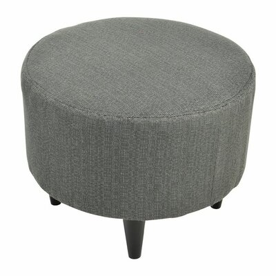 Sophia Round Ottoman Upholstery: Candice Charcoal