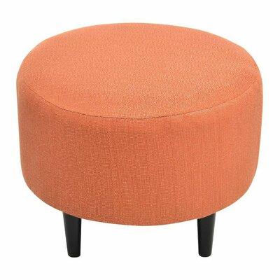 Spence Round Ottoman Upholstery: Candice Pumpkin