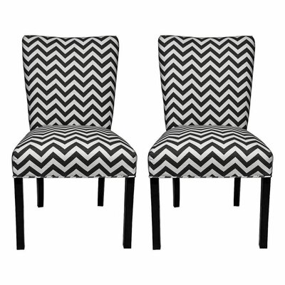 Julia Side Chair Upholstery: Zig Zag Black / White