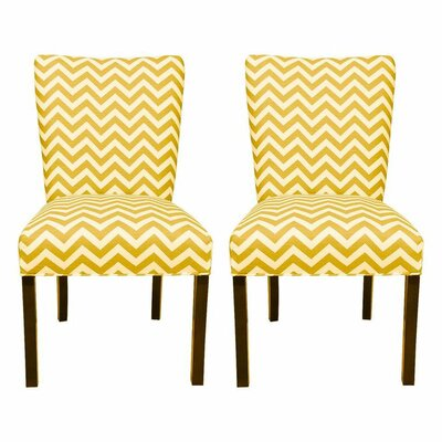 Julia Side Chair Upholstery: Zig Zag Corn Yellow / Slub