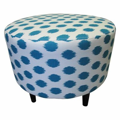 Sophia Jojo Round Ottoman Upholstery: Jojo Aquarius