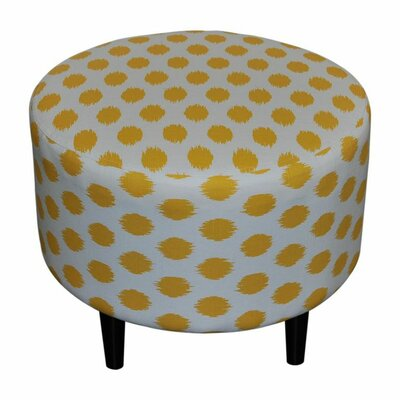 Sophia Jojo Round Ottoman Upholstery: Jojo Yellow