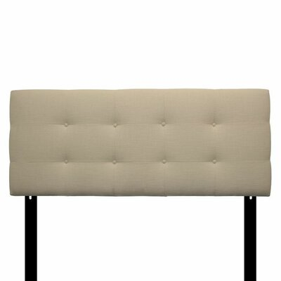 Ali Eastern King Upholstered Panel Headboard Upholstery: Carlsbad Ivory