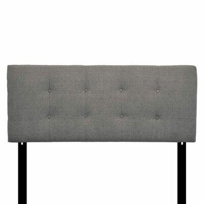 Ali Eastern King Upholstered Panel Headboard Upholstery: Carlsbad Metal