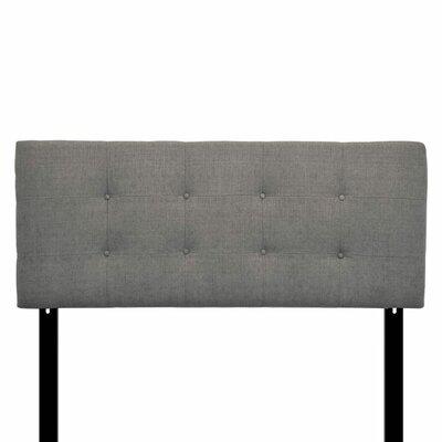 Ali Eastern King Upholstered Panel Headboard Upholstery: Carlsbad Metal