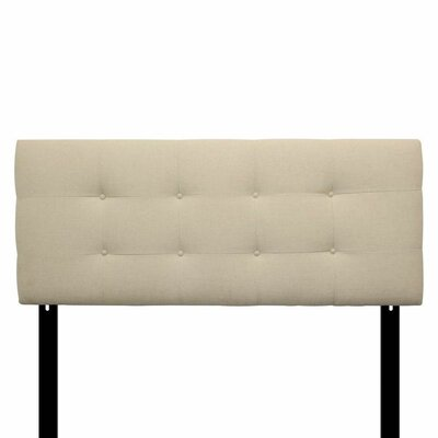 Ali Upholstered Panel Headboard Size: Eastern King, Upholstery: Arcadia Natural