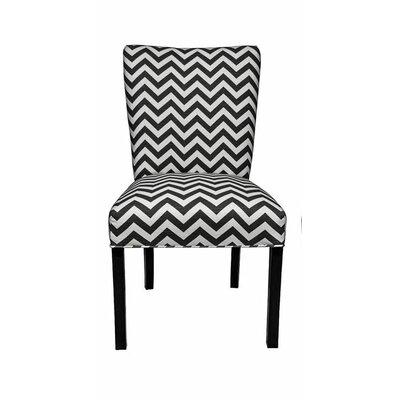 Julia Side Chair Upholstery: Zig Zag Black / White