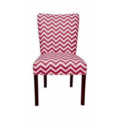 Julia Side Chair Upholstery: Zig Zag Lipstick / White