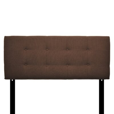 Ali Eastern King Upholstered Panel Headboard Upholstery: Charcoal
