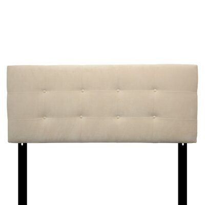 Ali Eastern King Upholstered Panel Headboard Upholstery: Diva Pearl