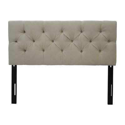 Jackie Twin Upholstered Panel Headboard Upholstery: Diva Pearl