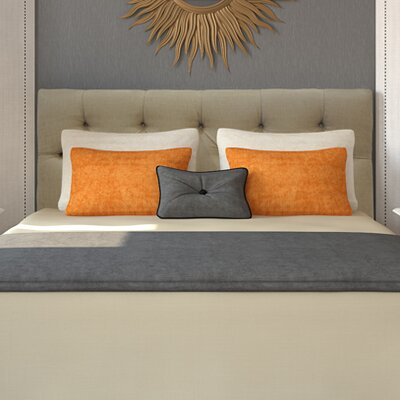 Jackie Queen Upholstered Panel Headboard Upholstery: Diva Pearl