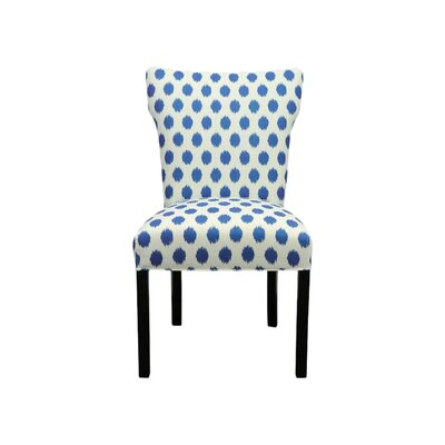 Bella Side Chair Upholstery: Jojo Aquarius
