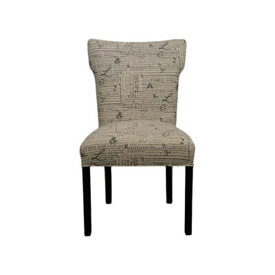 Bella Side Chair Upholstery: Newsletter Black