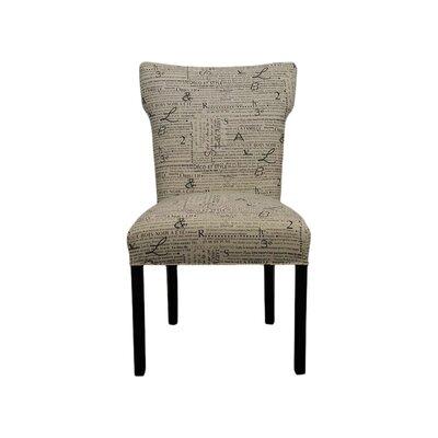 Brault Side Chair Upholstery: Newsletter Black