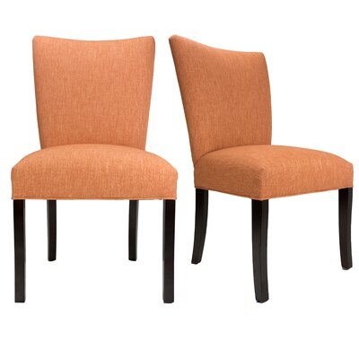 Julia Key Largo Spring Seating Double Dow Upholstered Side Chair Upholstery: Terra Cotta