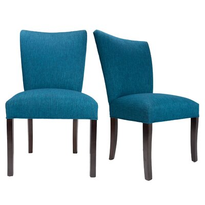 Julia Key Largo Spring Seating Double Dow Upholstered Side Chair Upholstery: Zenith Teal