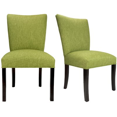 Julia Key Largo Spring Seating Double Dow Upholstered Side Chair Upholstery: Grass