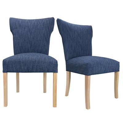 Bella Key Largo Spring Seating Double Dow Upholstered Side Chair Upholstery: Denim