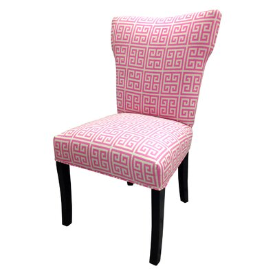Pinky Chain Wingback Cotton Side Chair (Set Of 2)