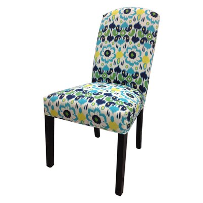 Flora Cotton Parson Chair Upholstery: Blue