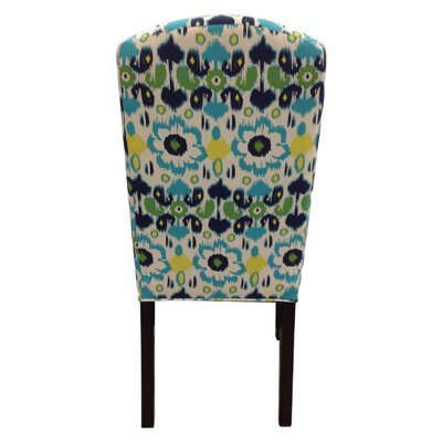 Credit for Flora Cotton Parson Chair Color: Bl...