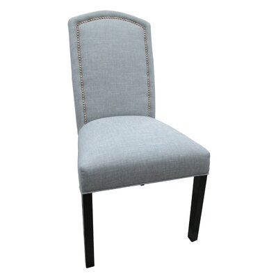 No credit financing Nickel Cotton Parson Chair Color: S...