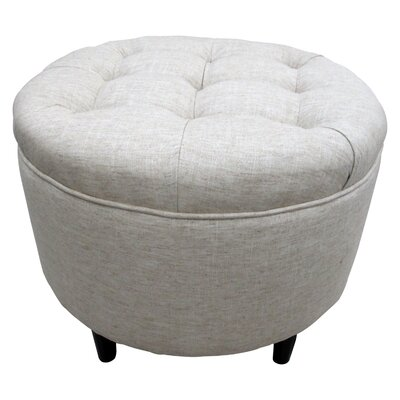 Balboa Button Tufted Ottoman Upholstery: Sand