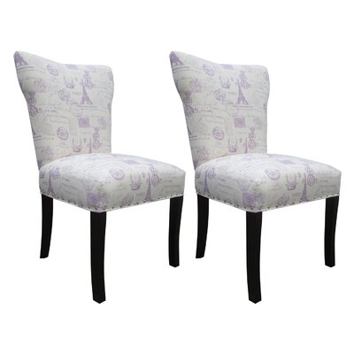 Bella Side Chair Upholstery: Grape