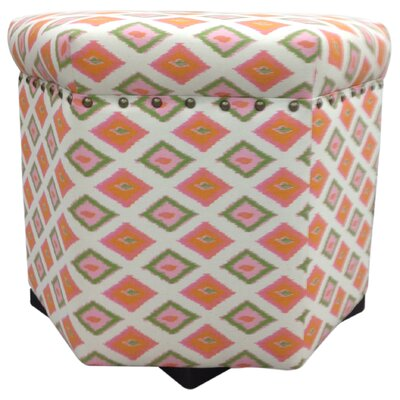 Carnival Ottoman Upholstery: Orange
