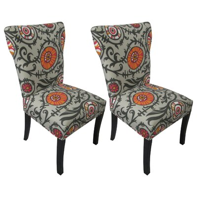 Sole Designs Willard Cotton Wingback Cotton Slipper Chair (Set of 2) at Sears.com
