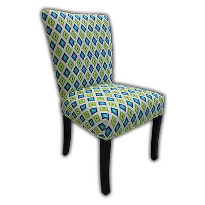Julia Parsons Chair Upholstery: Lime Green / Blue