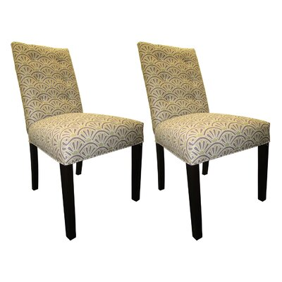 Kacey Side Chairs Upholstery: Amethyst