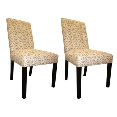 Kacey Side Chairs Upholstery: Blush