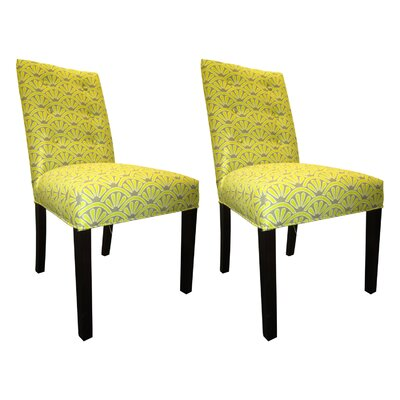 Kacey Side Chairs Upholstery: Wassabi