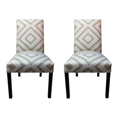 Nouveau Side Chairs Upholstery: Platinum