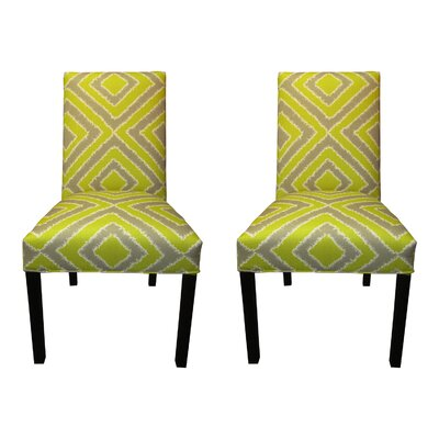 Nouveau Side Chairs Upholstery: Wassabi