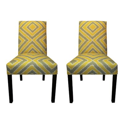 Nouveau Side Chairs Upholstery: Dijon