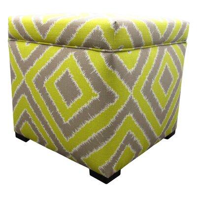 Tami Cube Ottoman Upholstery: Nouveau Wassabi
