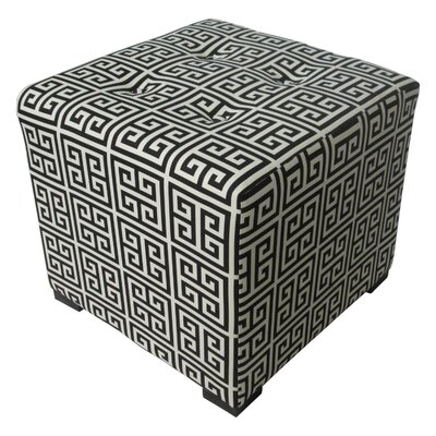 Merton Ottoman Upholstery: Towers Black and White