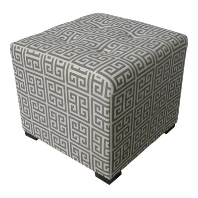 Merton Cube Ottoman Upholstery: Towers Grey