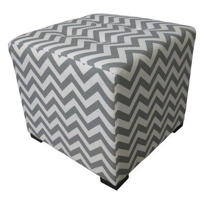 Merton Ottoman Upholstery: Zig Zag Grey