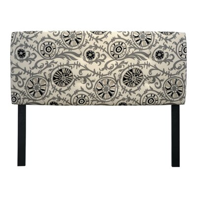 Ali Suzani Vine Upholstered Panel Headboard Size: Queen
