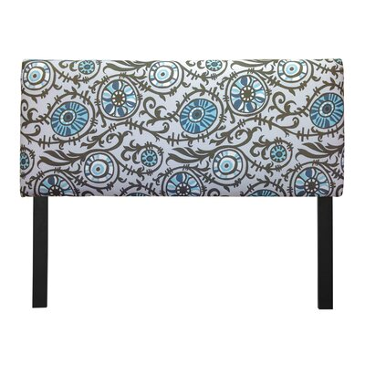 Ali Suzani Grapevine Upholstered Panel Headboard Upholstery: Village Blue, Size: Queen