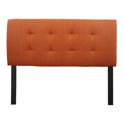 Ali Candice  Upholstered Panel Headboard Size: Twin, Upholstery: Pumpkin Orange