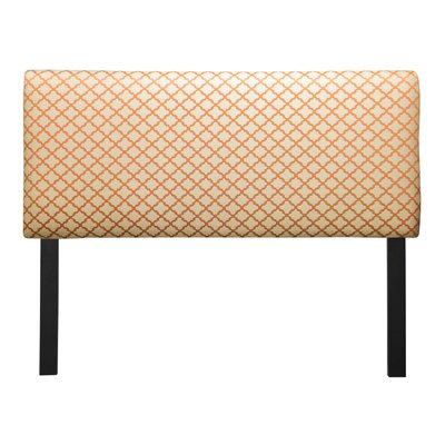 Ali Eddy Upholstered Panel Headboard Upholstery: Orange, Size: Queen
