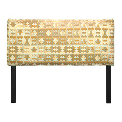 Ali Towers Upholstered Panel Headboard Upholstery: Orange, Size: Eastern King
