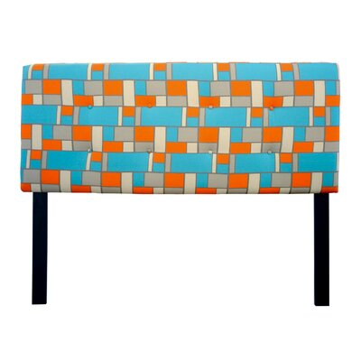 Ali Hopscotch Upholstered Panel Headboard Size: Queen