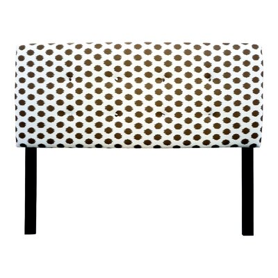 Ali Jojo Upholstered Panel Headboard Size: Twin, Upholstery: Brown