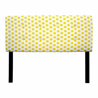Ali Jojo Upholstered Panel Headboard Size: Twin, Upholstery: Yellow
